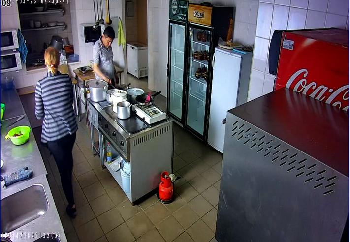 Установка видеонаблюдения в кафе
